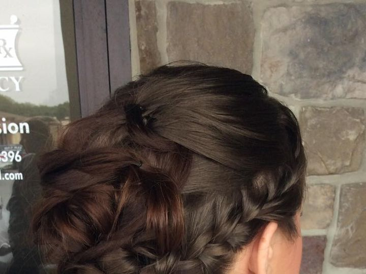 Tmx 1476762271352 Brunettebraidedupdosideview Elkton, MD wedding beauty