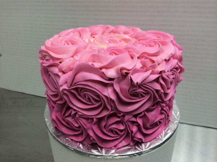Tmx 1415120904641 Darkpink Reisterstown wedding cake