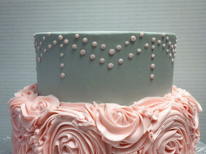 Tmx 1415121100133 Pinkgreycake Reisterstown wedding cake