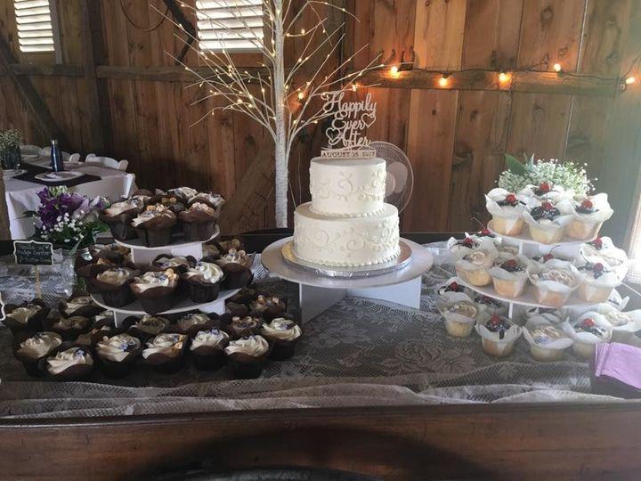 Tmx 1531862673 3029606881ddb9a3 1531862673 C00fc922ccc1be2c 1531862672520 11 Barn Wedding Reisterstown wedding cake