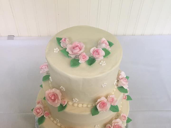 Tmx 1531863656 48ff20fce8568e13 1531863655 F22056bdc62557f0 1531863655198 5 3 Tier Rosette Reisterstown wedding cake
