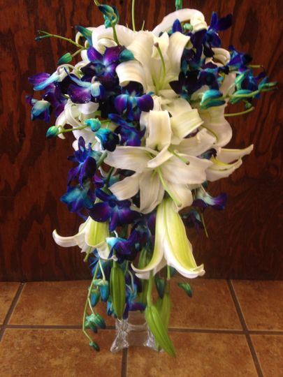 lily and orchid bouquet
