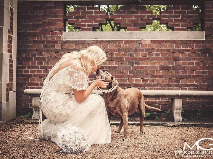 Tmx 1441401831826 Bride With Dog Wedding Picture Davenport wedding dress