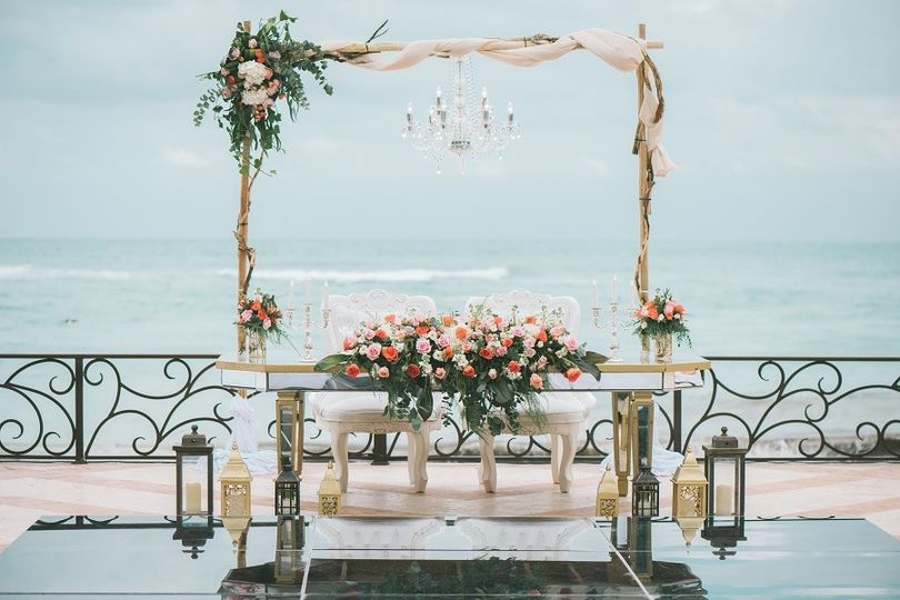 Arch for reception
