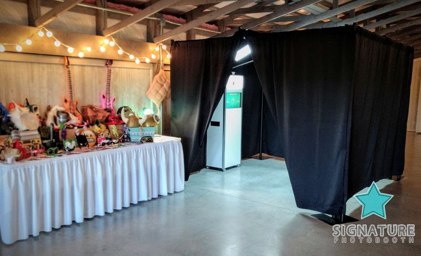 The wedding photo booth