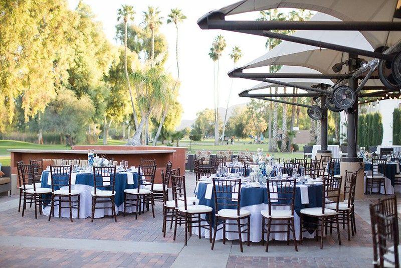 Outdoor wedding patio