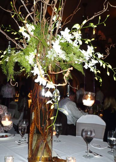 weddingflowers table