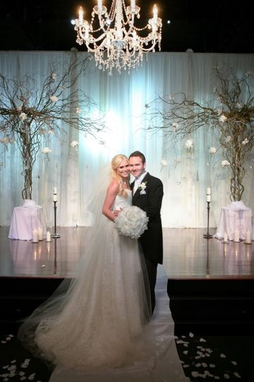 D'Plazzo loved creating this beautiful wedding...we loved the trees with flowers and hanging...