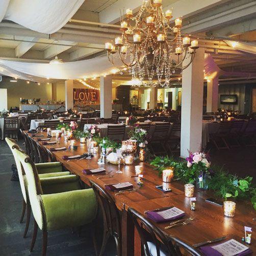 Long mahogany tables