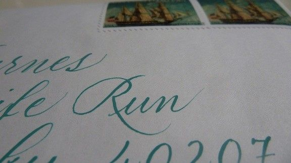 Tmx 1421305765656 Turquoisewithstamps Floyds Knobs wedding invitation