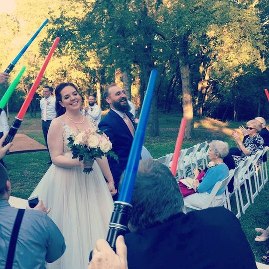 The Force was with the couple