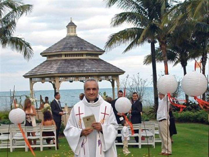 Tmx 1203019758564 FrJoaquin%40RitzCarltonKeyBiscayne Miami, Florida wedding officiant