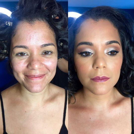 Bridal makeup|before & after