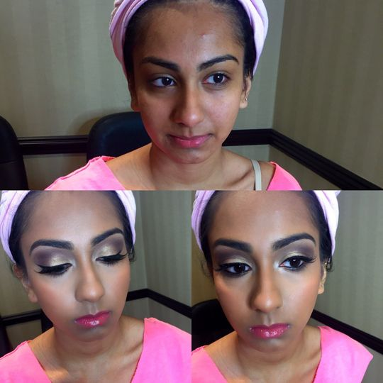 Indian maid of honor makeup