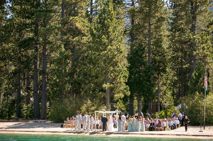wedding lake front