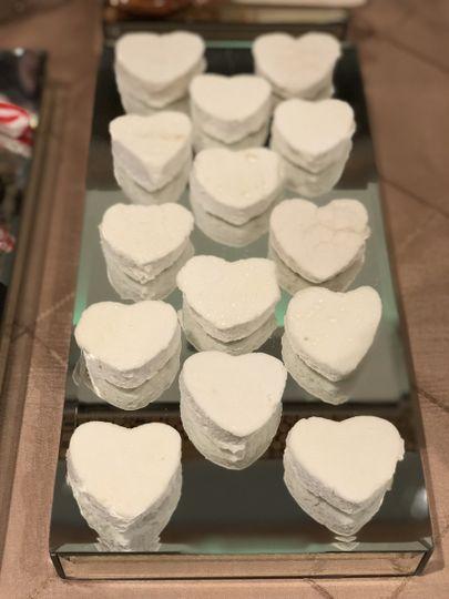 Marshmallow hearts