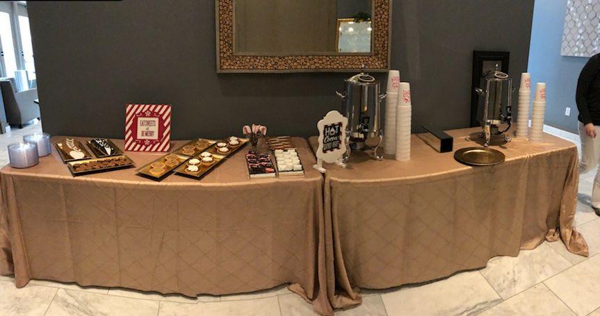 Dessert & hot chocolate bar