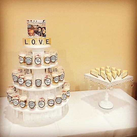 Cake push pops & cheesecake