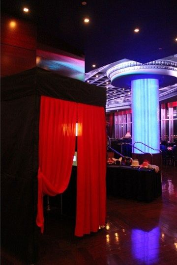 Elegant enclosed photo booth