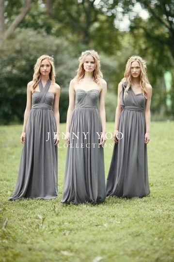 1319fc72ec4 Jenny Yoo Collection Jenny Yoo Aidan Dress in Charcoal Luxe Chiffon 1 Dress  worn at least 16 different ways