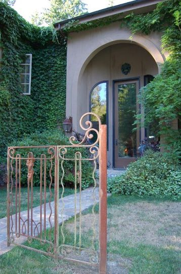 25' arched front doors for a dramatic entrance to the Manor home.
