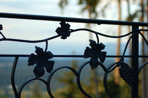 All railings on manor home are custom iron work.