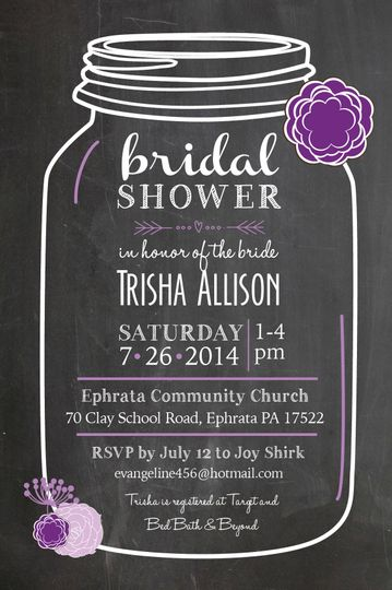 trish bridal shower invites