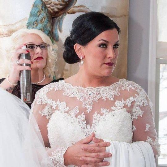 Bride waiting to enter