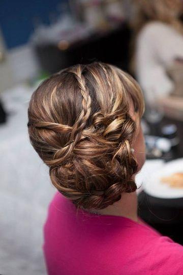 Low bun with braids