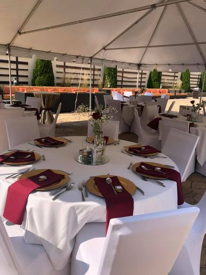 Courtyard Tent Reception