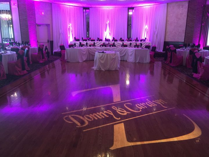 Uplighting and Name-In-Lights Gobo