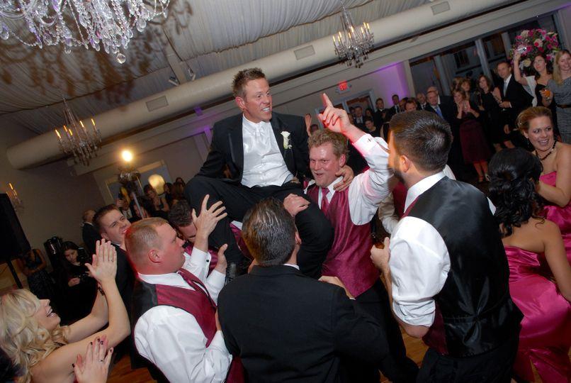 Celebrating the groom