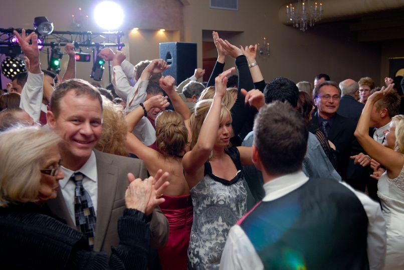 Packed dancefloor - everyone having a great time!