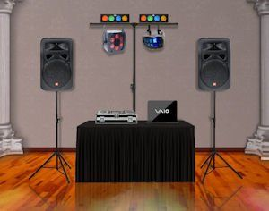 Party Package: Great for small events with under 100 guests.  •  MC / DJ •  Computerized Sound...