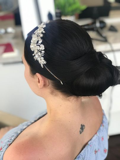 Bridal updo by Breana