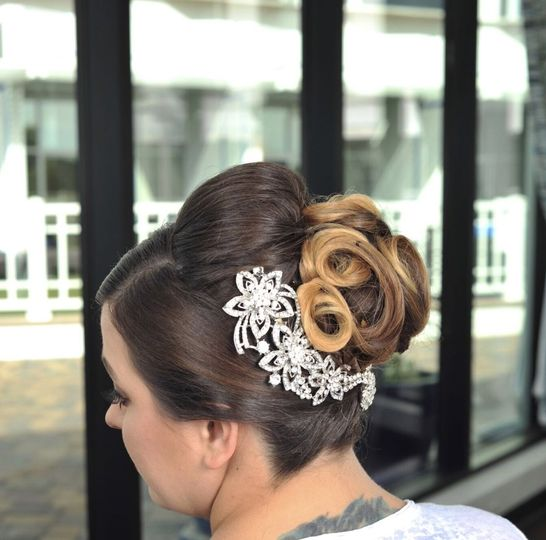 Traditional updo by Asia