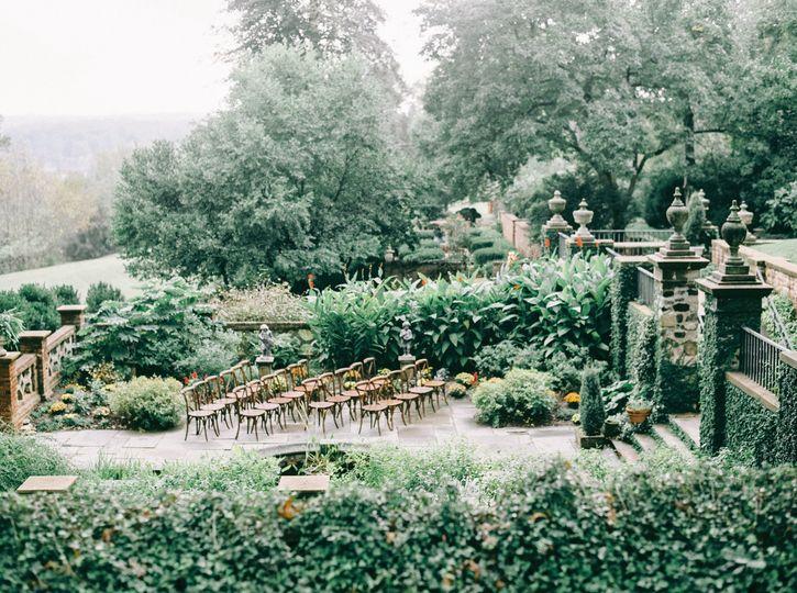 Garden wedding site