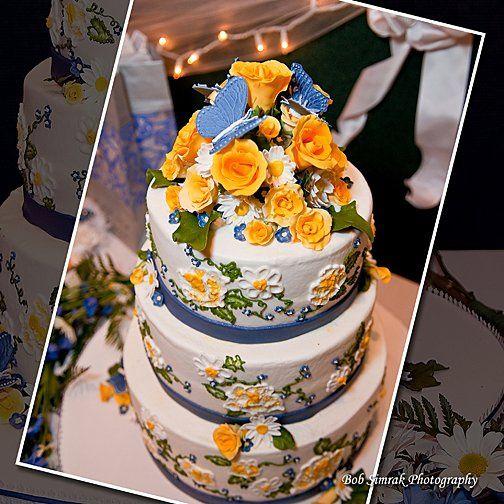Tmx 1256830656630 ButterfliesandrosesWeddingCake Warminster wedding cake