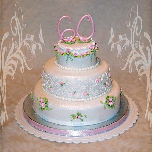 Tmx 1256830698286 Daintyrosesanniversarycake Warminster wedding cake