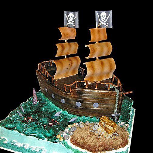 Tmx 1256830728208 Pirateshipweddingcake Warminster wedding cake