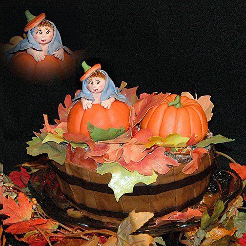 Tmx 1256831166130 Bushelfallleavespumpkinbirthdaycake Warminster wedding cake