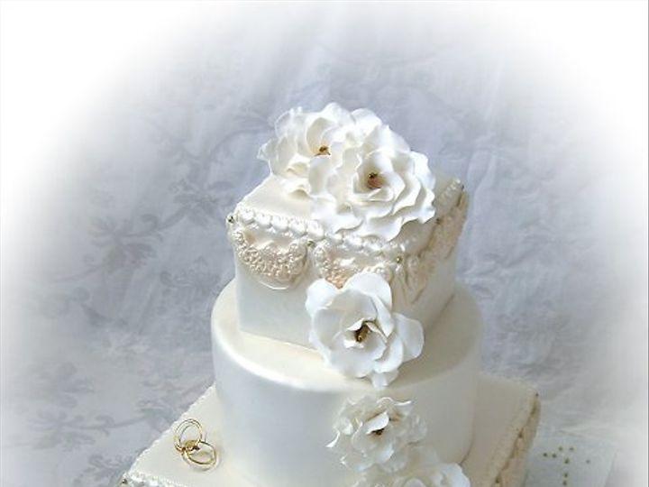 Tmx 1297269642944 Gadeniaandswag50thweddinganniversarycake Warminster wedding cake
