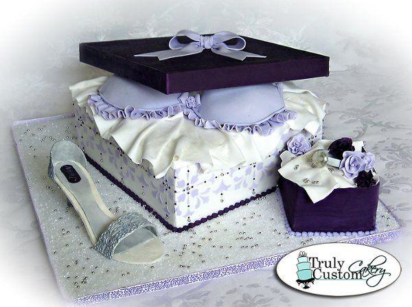 Tmx 1304470937107 BridalShowerGiftboxbradiamondringshoecake Warminster wedding cake