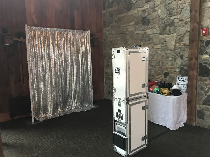 A photo booth