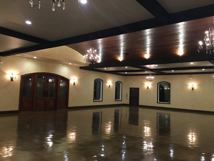 Reception room- barrel ceiling