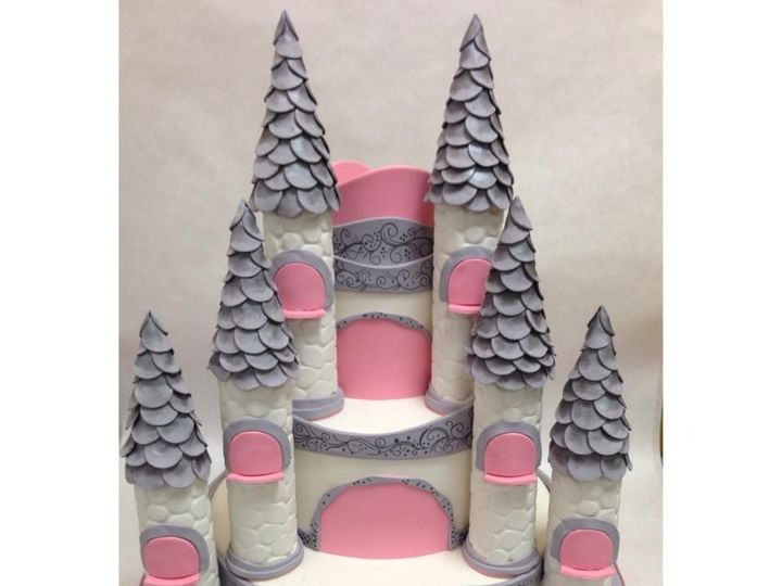 Tmx 1418665651735 Castle Pink Adult Centerport wedding cake