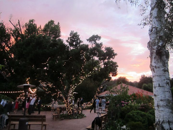 Sunset over the dance floor at Rancho Soquel