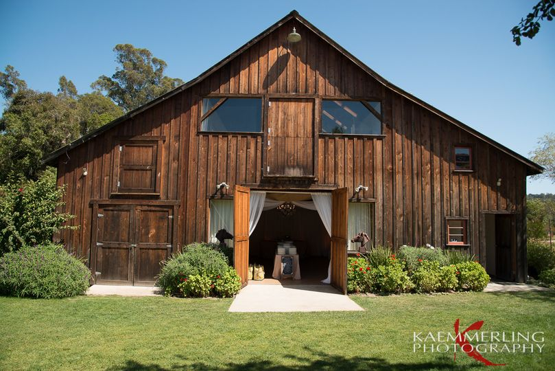 The barn is a fantastic backdrop for your reception!