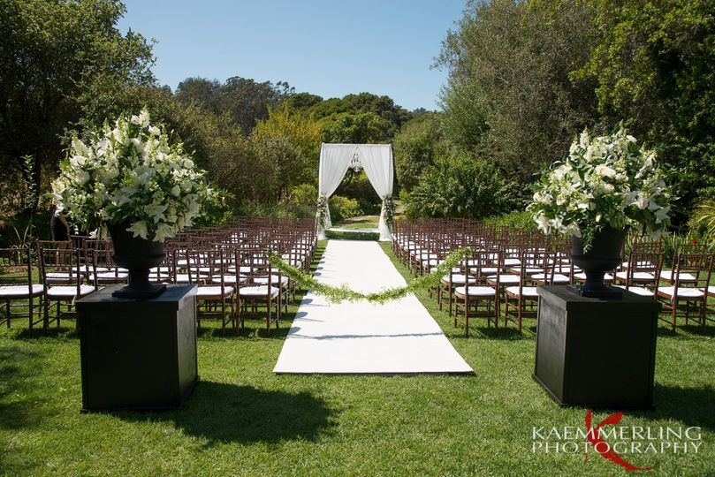 Stunning ceremony set up at Rancho Soquel!