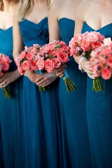 bouquet bridesmaids gadsden four seasons coral not